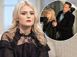 corrie's lucy fallon can't watch her grooming scenes