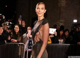 Karlie Kloss Flashes Major Sideboob as She Goes Braless at a Charity Event