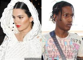 kendall jenner and a$ap rocky seen together again entering a hotel in milan