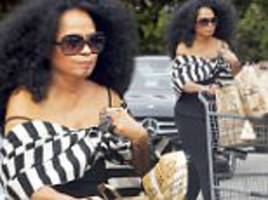 diana ross dresses down to pick up her own groceries