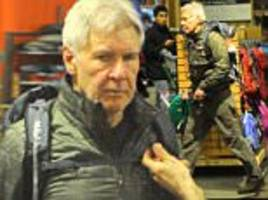 harrison ford picks up some hiking gear