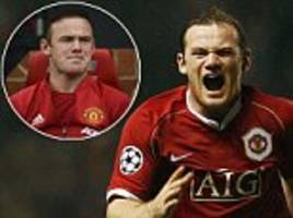 wayne rooney in pictures: the best of man united career