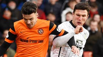 dundee united v st mirren challenge cup final at fir park on 25 march