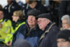 derby county: can you spot yourself in the crowd as rams are held...