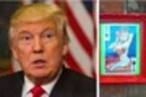 Artist behind rude Donald Trump with breasts portrait in Newland...