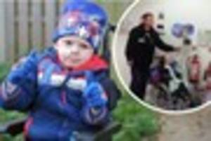 Moment brave cancer sufferer Daniel Carter, 5, rings bell to...