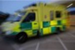 a 30-year-old man is in hospital after a two-vehicle crash in...