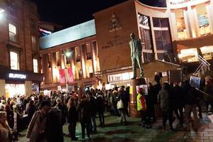 hundreds take to glasgow's streets to say 'no to racism' at anti-trump rally