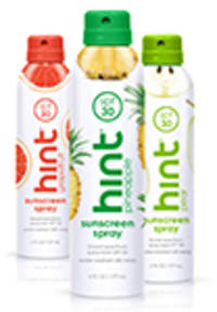 hint® water brings sensory refreshment to health and beauty products, starting with new hint® sunscreen