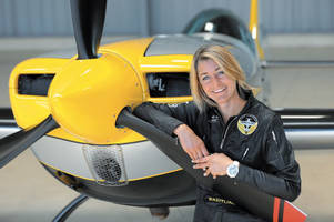 the sky is the limit for breitling acrobatics pilot aude lemordant