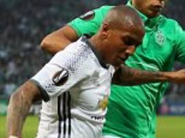man united's ashley young pleased with strength in depth