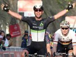 mark cavendish claims first win of the season in abu dhabi