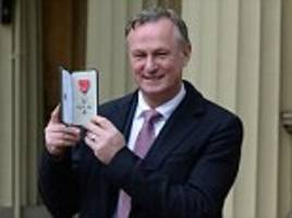 northern ireland manager michael o'neill receives  mbe
