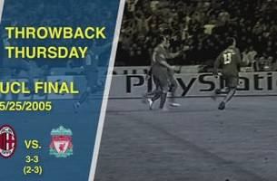 Throwback Thursday: AC Milan vs. Liverpool, 2005 Champions League Final