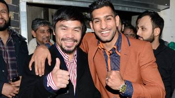 Britain's Amir Khan in negotiations with Manny Pacquiao