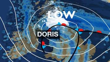 storm doris: weather warnings in place