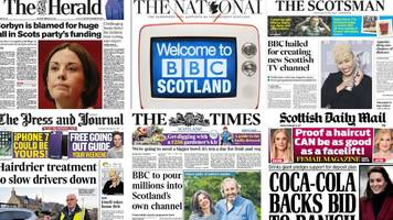 Scotland's papers: BBC's new channel and Sande's surprise