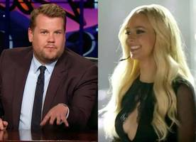 james corden hilariously reviews britney spears' biopic 'britney ever after'