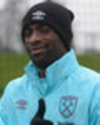 Snapped: West Ham star Pedro Obiang goes out for dinner with Arsenal ace