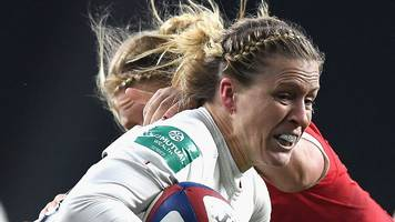 england women rest lydia thompson and danielle waterman v italy