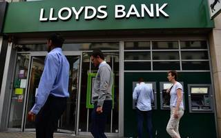 government stake in lloyds drops below four per cent