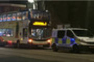 Drunk man throws rock through bus window and hits woman in Spring...