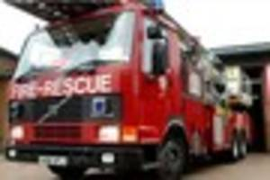 Firefighters deal with mini digger fire at North Devon farm