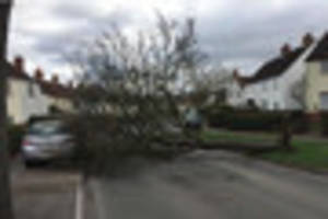 watch: storm doris swept across gloucestershire and this was the...