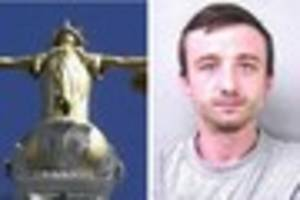 thug clint clay  'went for man's head' with machete
