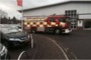 firefighters called to chelmsford car dealership after tanker...