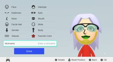 Nintendo Switch's Mii editor gets colorful