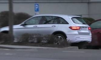 Mercedes-Benz EQ Electric SUV Spied Next to GLC, Makes Weird Exhaust Smoke