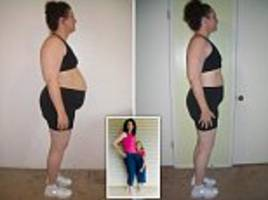 mother loses almost half of her body weight