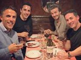 Beckham and Neville brothers enjoy birthday bash in Paris