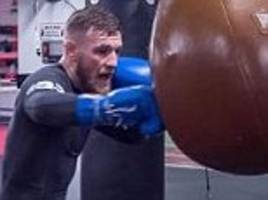 UFC star Conor McGregor shares snap of boxing session