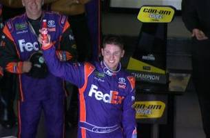 denny hamlin wins can-am duel 2 | 2017 daytona 500 | nascar on fox