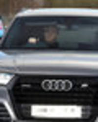 Snapped: Man Utd stars look determined as they arrive for training ahead of EFL Cup final