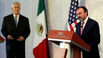 Mexico's Foreign Minister expresses irritation to US policies to Trump envoys