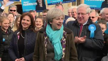 copeland by-election: theresa may visits new tory mp