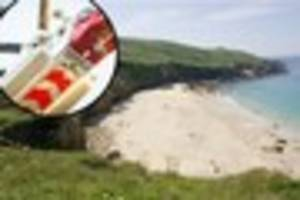 Woman airlifted to hospital after fall at Portheras Cove beach