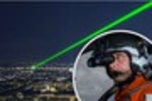 cornwall air ambulance warns of dangers of pointing lasers at...
