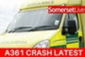 Crash closes A361: Man suffers leg and back injuries after lorry...