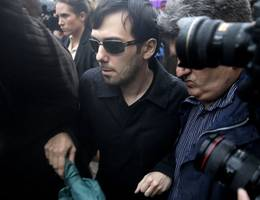 """shkreli dubbed a """"serial fraudster"""" by his ex-lawyer in court"""