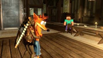 touch the skyrim: kissing crash bandicoot right on his mouth and face