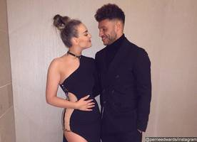 perrie edwards sparks pregnancy speculation with alex oxlade-chamberlain
