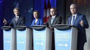 Conservative leadership candidates attempt deeper dive into policy at debate