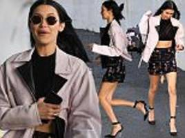 Bella Hadid looks chic as arriving for Milan Fashion Week