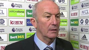 west brom 2-1 bournemouth: tony pulis says the baggies can't be complacent
