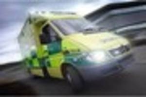 Man taken to hospital after stabbing kitchen knife into his own...