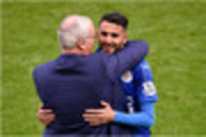 Riyad Mahrez thanks Claudio Ranieri for believing in him in...